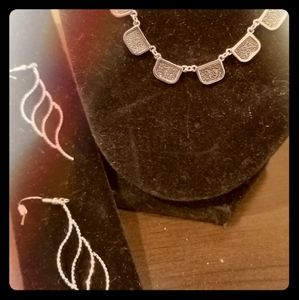 New necklace and earrings